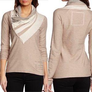 Desigual Antast Pullover Shawl Collar Sweater Sz S